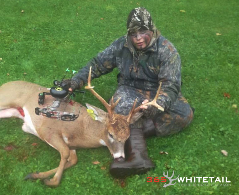anthony whitetail with a bow