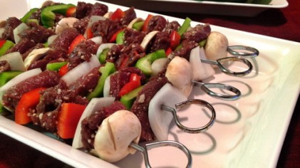 Grilled Venison Backstrap Kabobs Recipe
